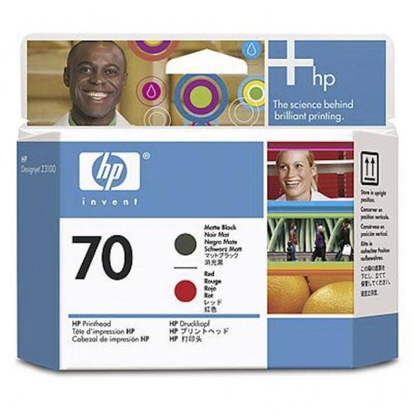 HP Cabezal 70 C9409A Negro Mate-Rojo