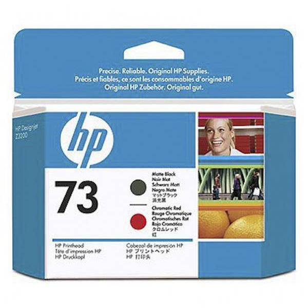 HP Cabezal 73 CD949A Negro Mate-Rojo Cromatico