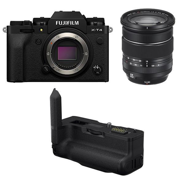 Fuji Cámara X-T4 Negra + XF 16-80mm f4 + Empuñadura VGXT4