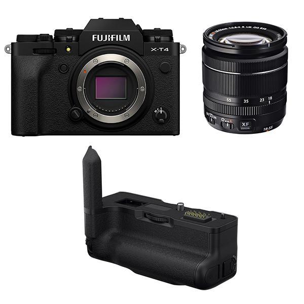 Fuji Cámara X-T4 Negra + XF 18-55mm f2.8-4 + Empuñadura VGXT4