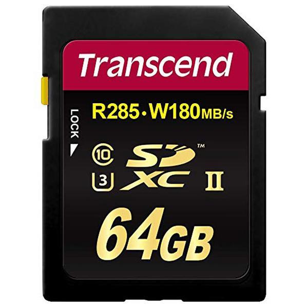Transcend SD XC Clase 10  64GB UHS-II U3x 285MB/s -
