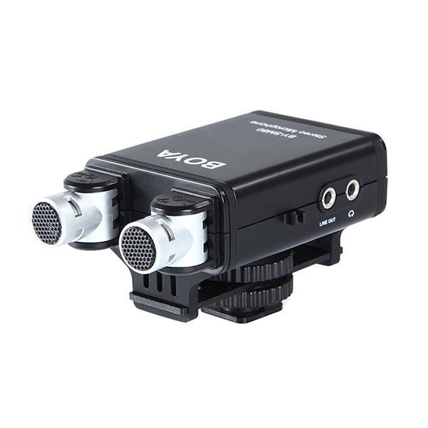 Boya Micro Stereo X/Y BY-SM80 p/ DSLR Autoalimentado -