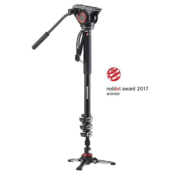 Manfrotto Monopie de Video XPro + con  rótula MVH500AH -