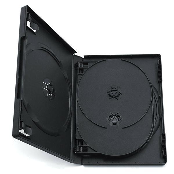 Estuche CD / DVD 14mm Multidisco 4  Negro, T.Transparente