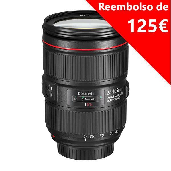 Canon Objetivo EF Zoom  24-105mm f4L II IS USM