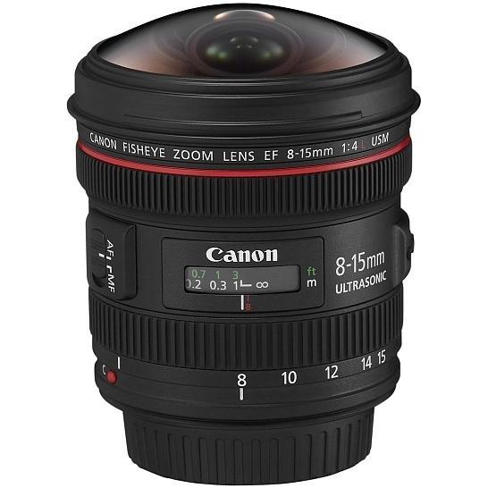 Canon Objetivo EF Zoom   8-15mm f4 L Ojo de Pez