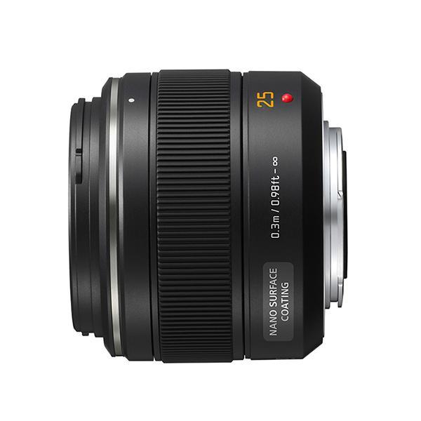 Panasonic Objetivo H-X025E 25mm f1.4 Summilux  MFT - ¡Ahora 50€ de Reembolso hasta el 15 de enero de 2018!      Distancia focal: 25 mm (equivalente en 35 mm cámara de 50 mm)     Abertura: f1.4     Tamaño de filtro: φ46mm