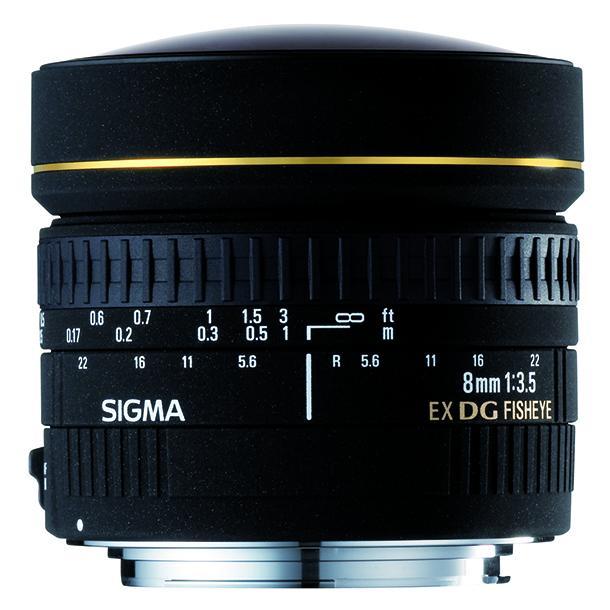 Sigma DG   8mm f3.5 EX  Ojo de Pez circular Canon