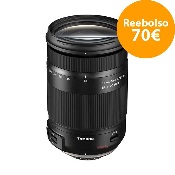 Tamron Objetivo AF 18-400mm f3.5-6.3 Nikon Di II VC HLD - Reembolso de 70€ para compras realizadas del  1/11/2018 al 5/06/2019. Registros realizados antes del 11/01/2019.