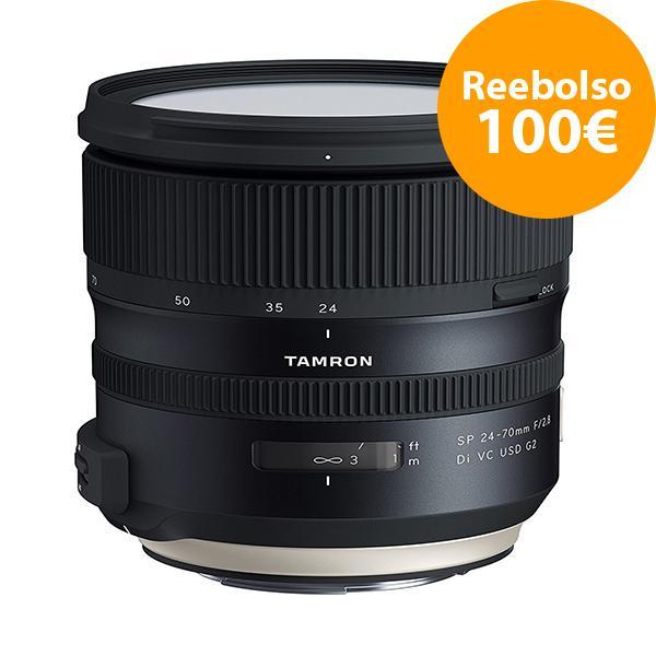 Tamron Objetivo AF  24-70mm F2.8 Canon G2 SP Di VC USD - Reembolso de 100€ para compras realizadas del  1/11/2018 al 5/06/2019. Registros realizados antes del 11/01/2019.