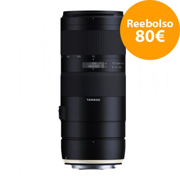 Tamron Objetivo AF  70-210mm F4 Canon Di VC USD - Reembolso de 80€ para compras realizadas del  1/11/2018 al 5/06/2019. Registros realizados antes del 11/01/2019.