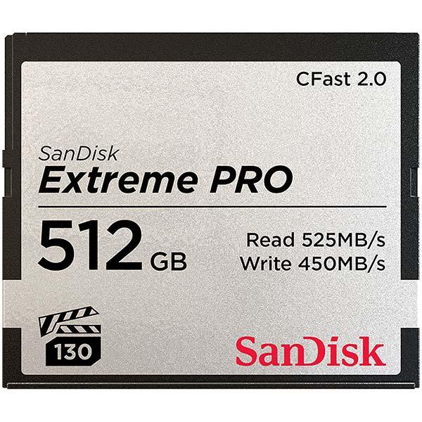 Sandisk CFast Extreme Pro 512GB VPG130