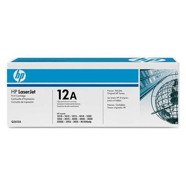 HP Toner 12A Q2612A Negro Laser 2000 paginas